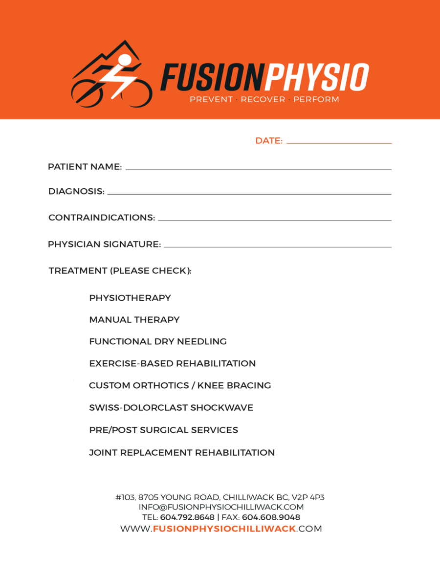 Fusion Physiotherapy eForm