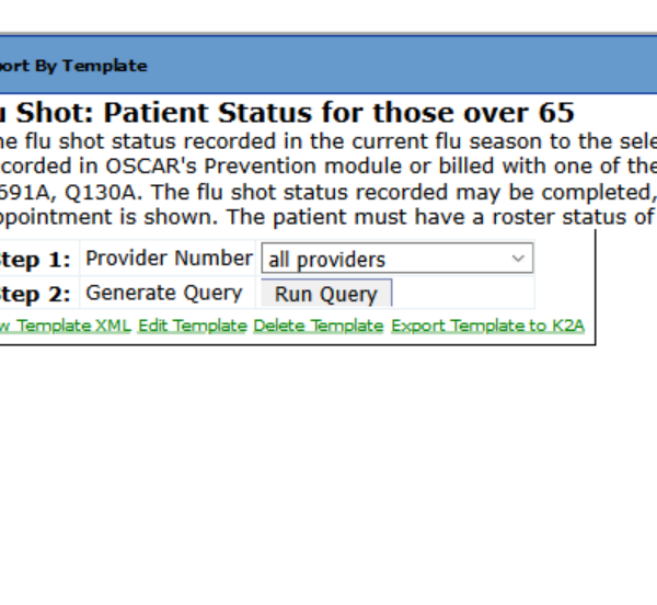 Flu shot RBT to show who has had it and who is pending