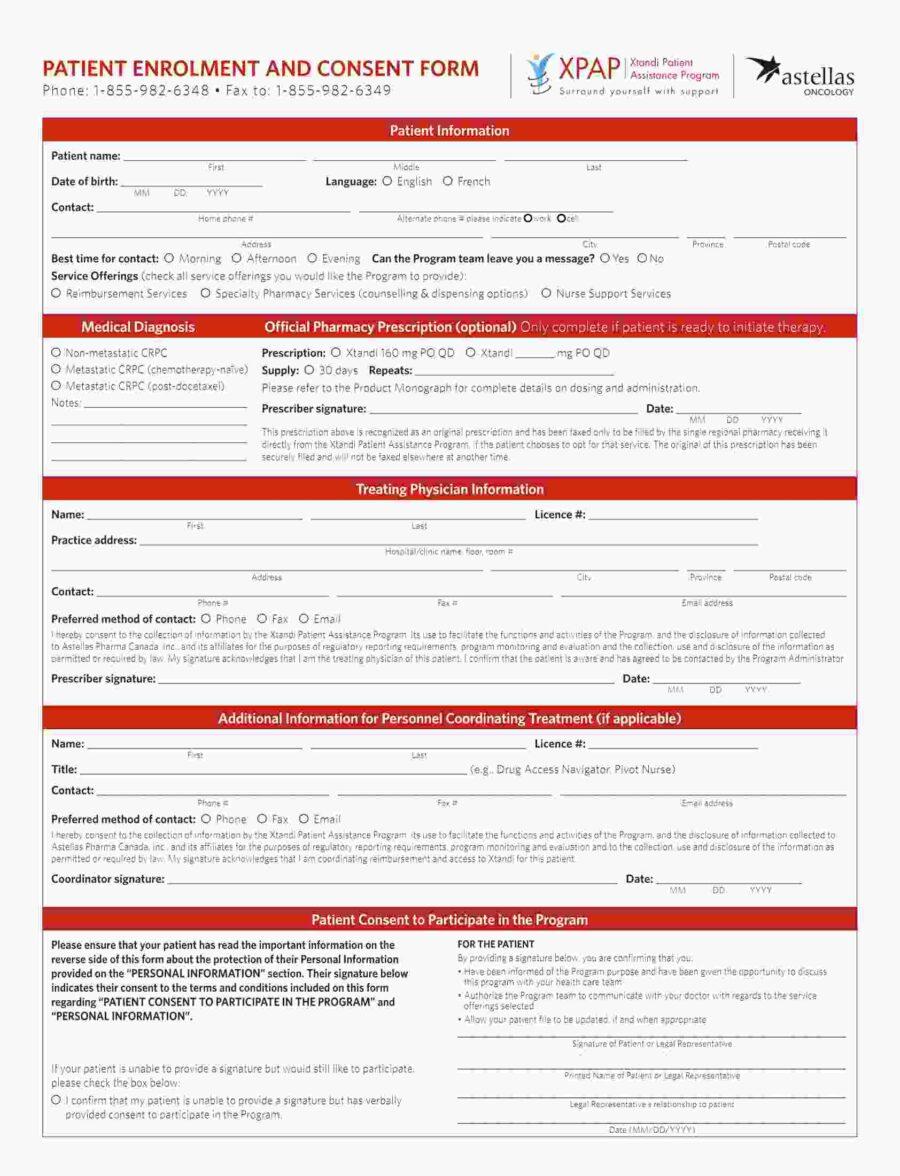 Xtandi XPAP Enrolment Form Feb 2019 ENG BC