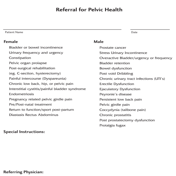 CBI Chilliwack Pelvic Health Referral 2019